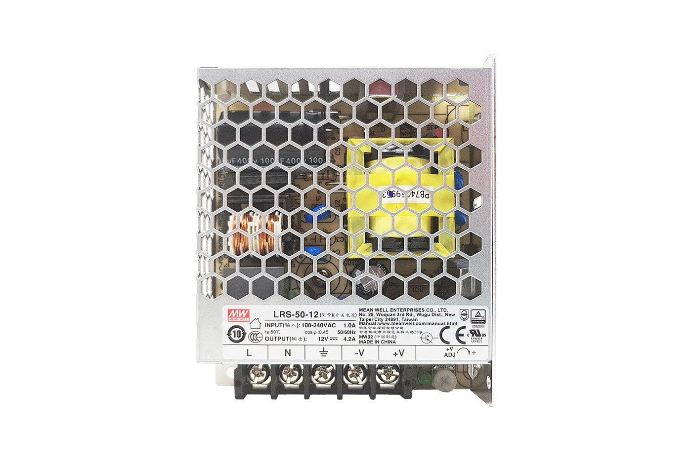 c/ód.1993 MeanWell Fuente de alimentaci/ón Meanwell Modelo LRS-75-24 75W 24V Transformador Switching Mean Well NO resistente al agua IP20 para Tiras LED KingLed