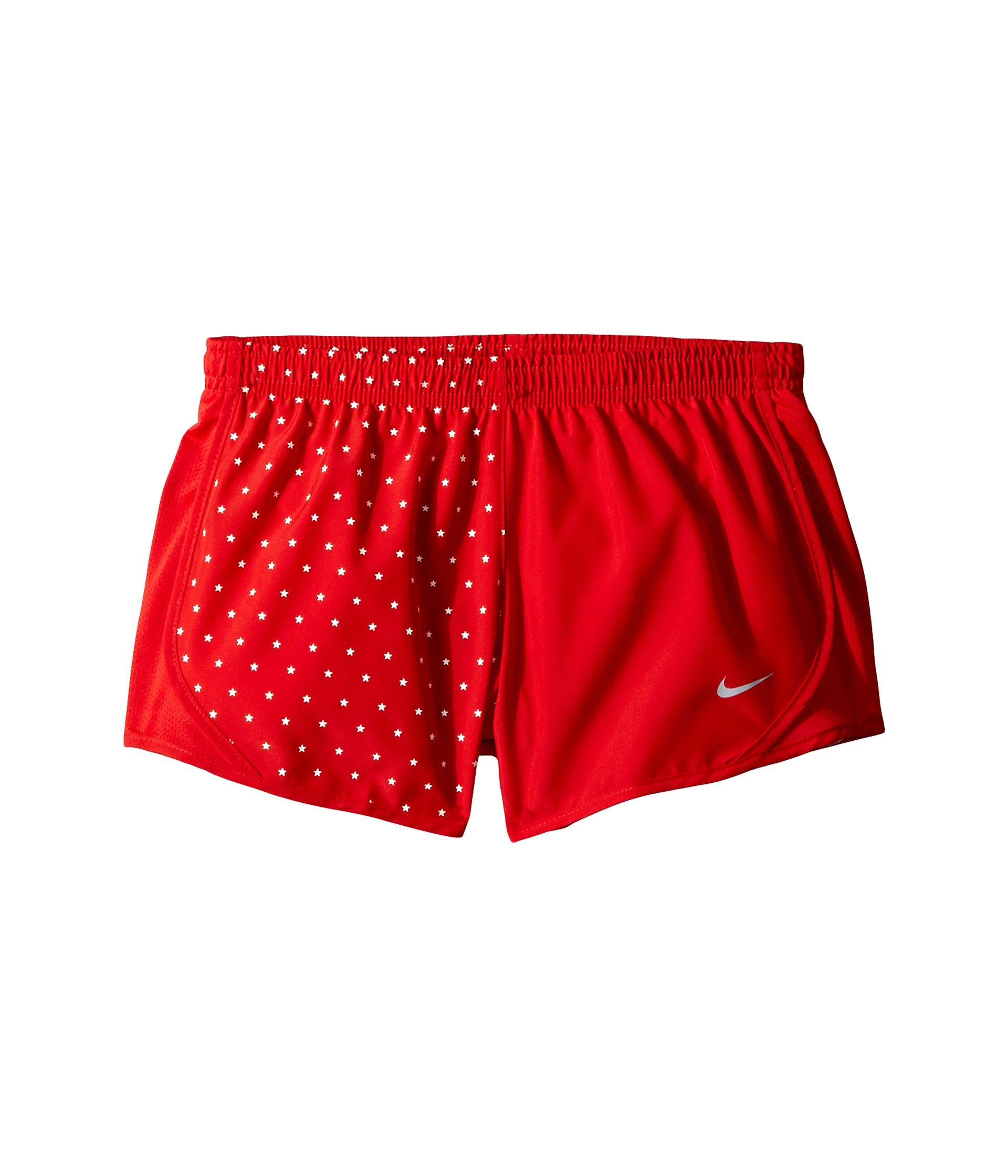 Nike Girl`s Dri-FIT Running Shorts (University Red(AR0409-657)/White, X-Large) by Nike