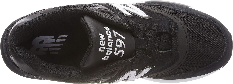 New Balance Herren 597 Sneaker Schwarz (Black/White Aac)