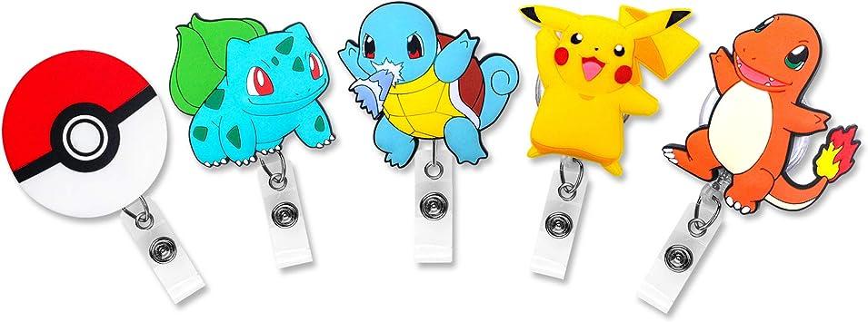 Pikachu Pokemon Ball Charmander Bulbuasaur PVC Silicone Keyring Cartoon Bag Tag