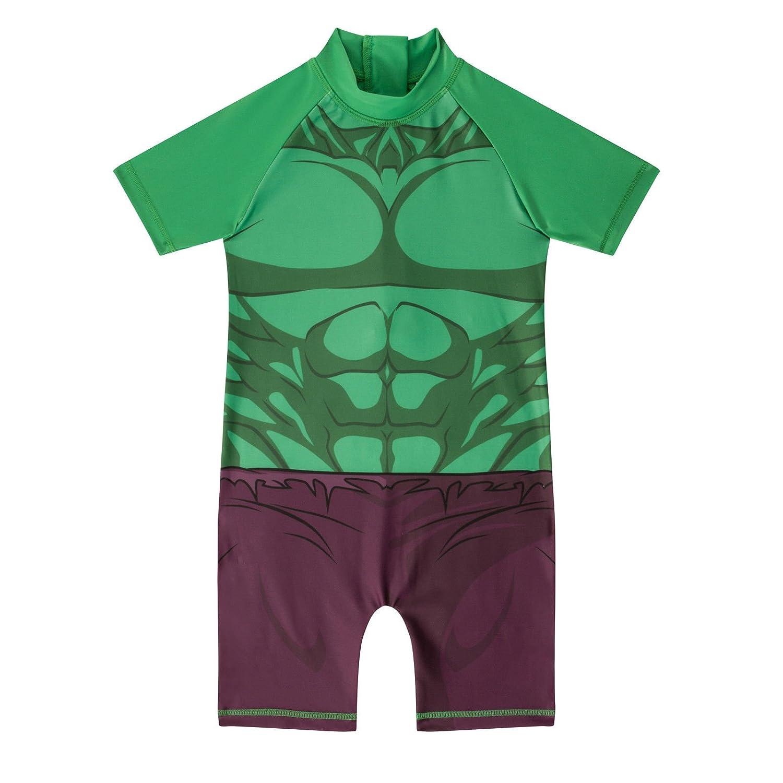 Disney Marvel Kids Boys One Piece Superhero Batman Hulk Sun Safe Swimsuits Swimwear 1-5 yrs