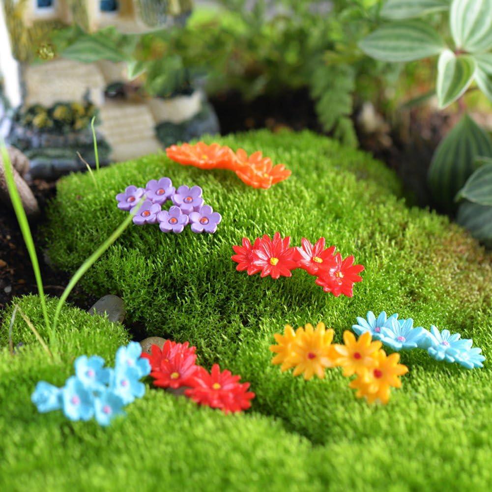 Kimnny New 10 Pieces Garden Ornament Miniature Flower Moss Bonsai DIY Crafts Fairy Garden Landscape Decor