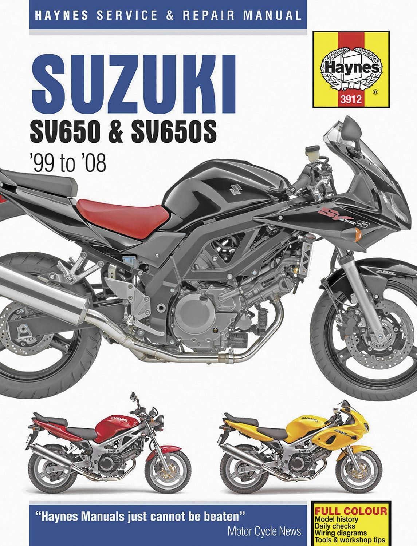 Haynes Manuals Suzuki Sv650//S 99-05 Manual Suz Sv650//S 99 05 M3912 New