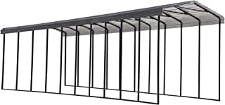 product image for Arrow Shed 14' x 47' x 14' 29-Gauge Metal RV Carport and Multi-Use Shelter for Large Vehicles, 14' x 47' x 14', Charcoal