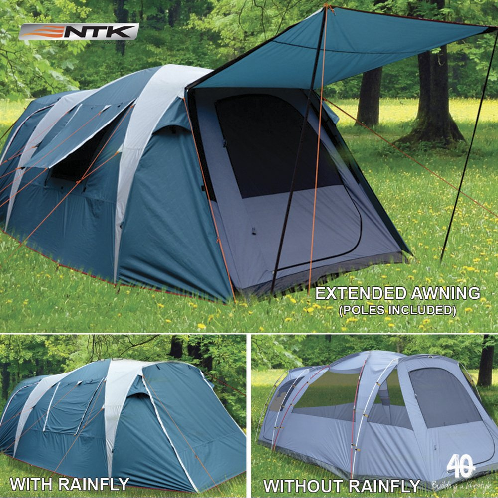 ... NTK Super Arizona GT up to 12 Person 20.6 by 10.2 by 6.9 Height Foot Sport Family XL C&ing Tent 100% Waterproof 2500mm Tent  Sports u0026 Outdoors & Amazon.com : NTK Super Arizona GT up to 12 Person 20.6 by 10.2 by ...