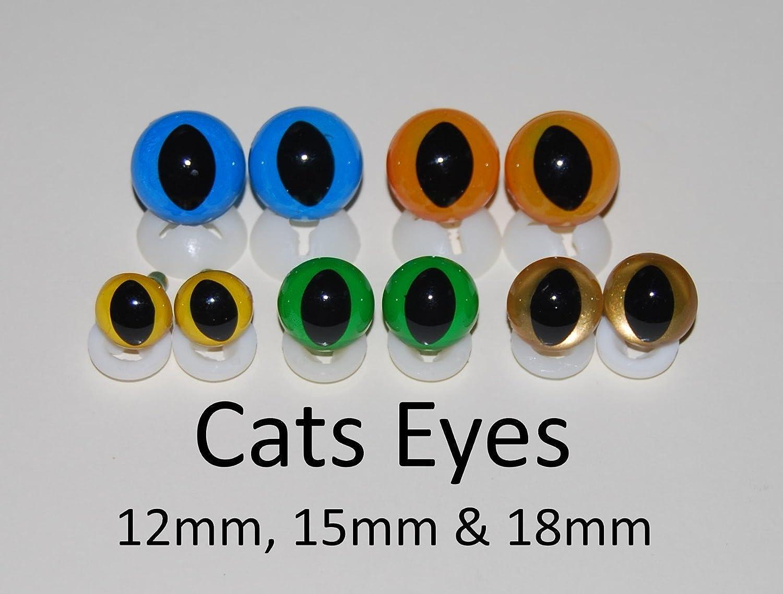 12 mm Celloexpress Katzenaugen mit Kunststoffr/ücken farblos 12 mm 25 Paar