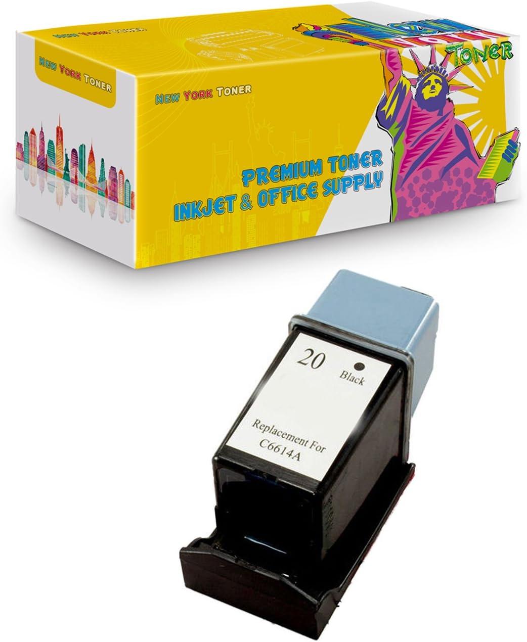 4 Pack C6614DN Black Reman Printer Ink Cartridge for HP 20 HP20