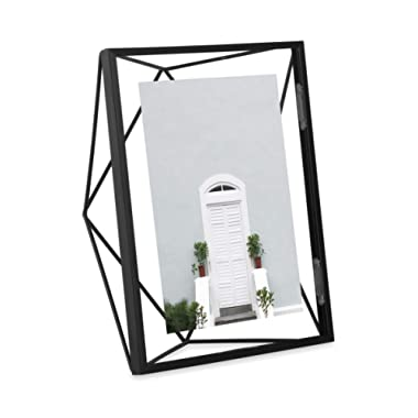 Umbra Prisma 5x7 Picture Frame – Geometric Wire Photo Frame for Desktop or Wall, Black
