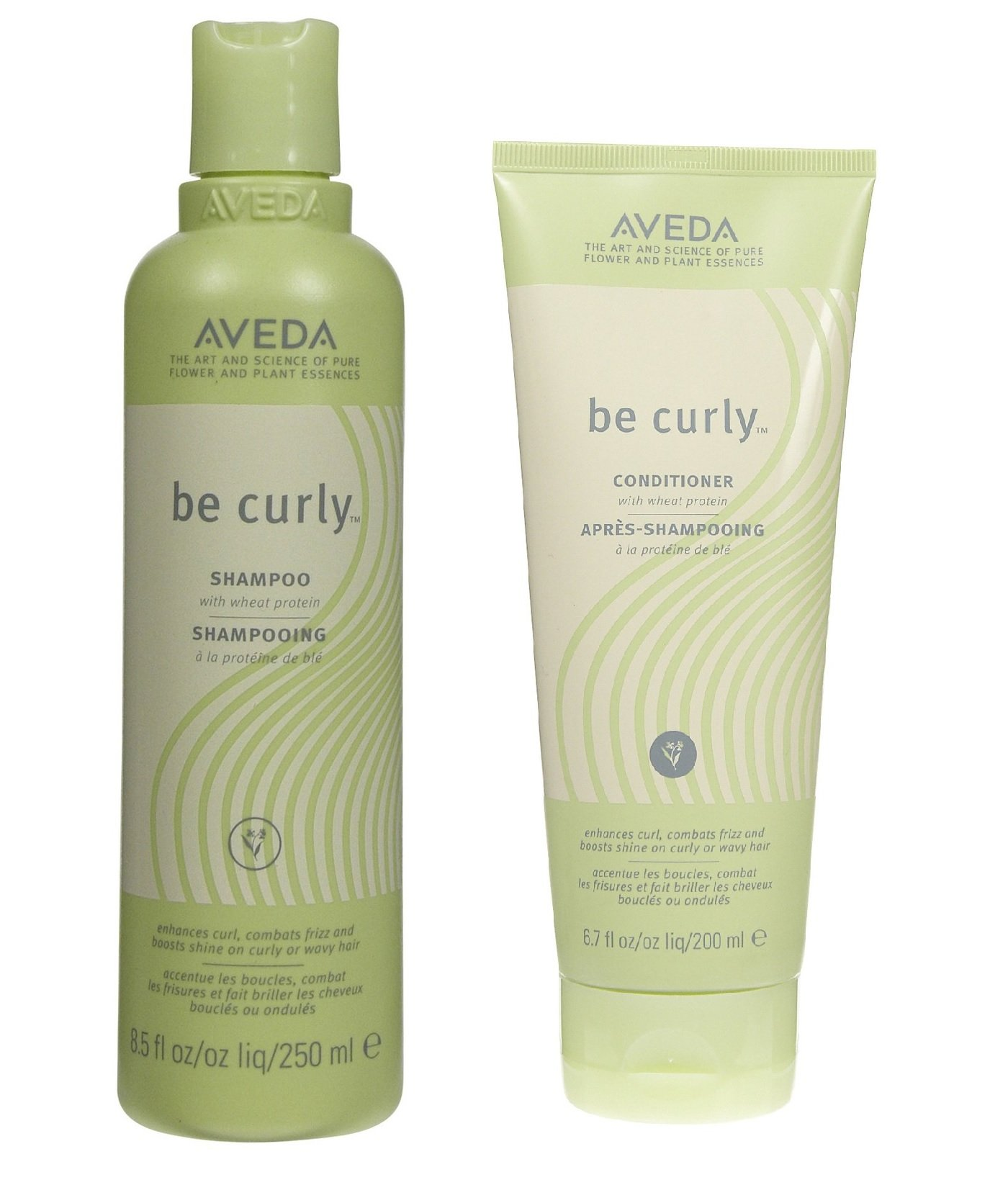 Aveda Be Curly Conditioner 6.7oz and Shampoo 8.5 oz Duo Set by AVEDA