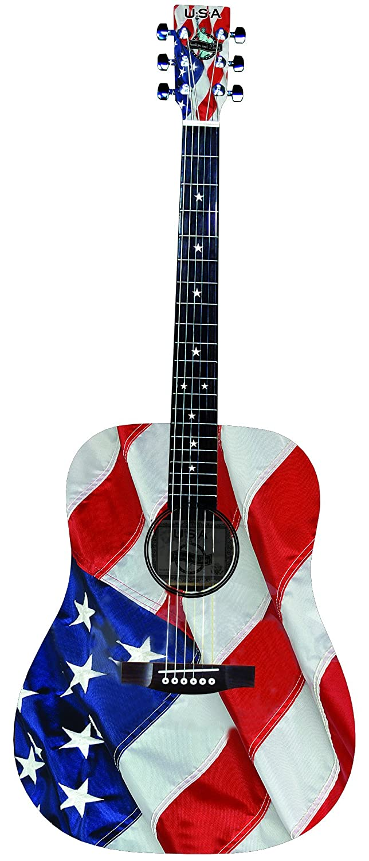 INDIANA USA-1 USA Flag Guitar