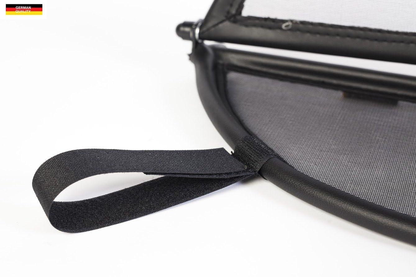 Black for Mercedes SL R230 2001-2011 Foldable Wind Deflector Windstop Wind Blocker