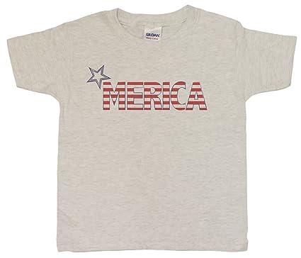ceafa8d5b323e Amazon.com  Unisex-Big Kids 4-20  Merica 4th Of July Patriotic Youth ...