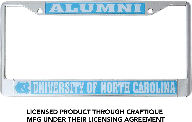Mascot Desert Cactus University of North Carolina Tarheels Metal License Plate Frame for Front Back of Car Officially Licensed