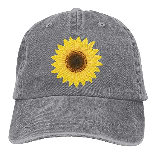 Amazon.com  Arsmt Sunflower Art Denim Hat Adjustable Women s Mini ... 92ab9c31edd2