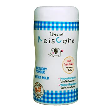 Amazon.com : Reiscare Baby Powder Rice Starch Extra Mild 100% Talcum Free, Hypoallergenic, Water Repellent 50 G : Other Products : Baby