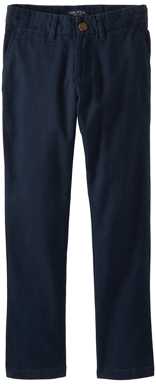 Nautica Boys' Flat Front Twill Pant N855006