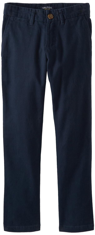 Nautica Big Boys' Uniform Flat Front Twill Pant Navy 10