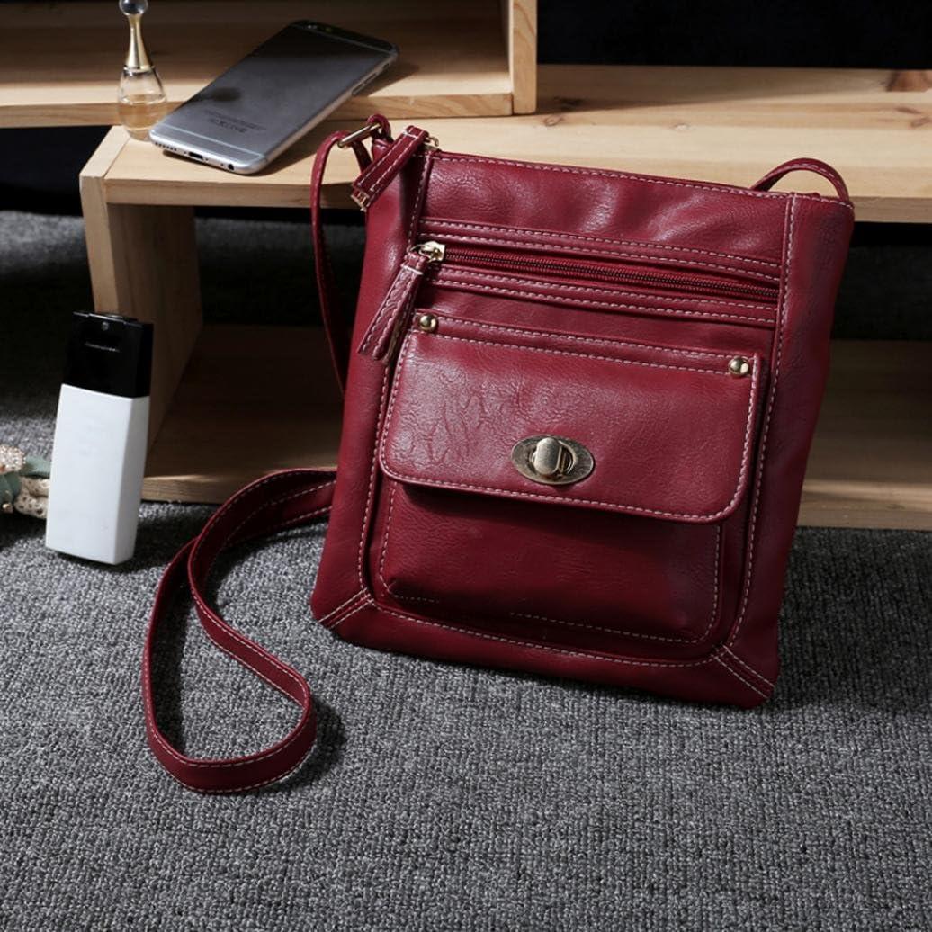 22cm Internet Femmes Portable Sac /à bandouli/ère en cuir Sac de messager 24