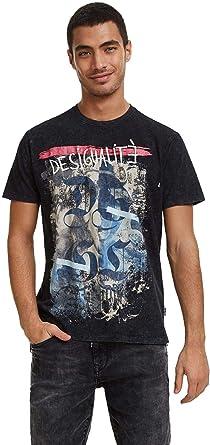 Desigual - Camiseta Eros Hombre Color: 2000 Talla: Size S: Amazon.es: Ropa y accesorios