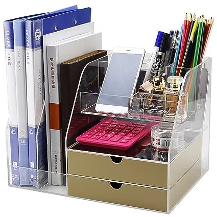Home Office Desk Organizer Box For Women/Men/Girls/Kids, Large Modern