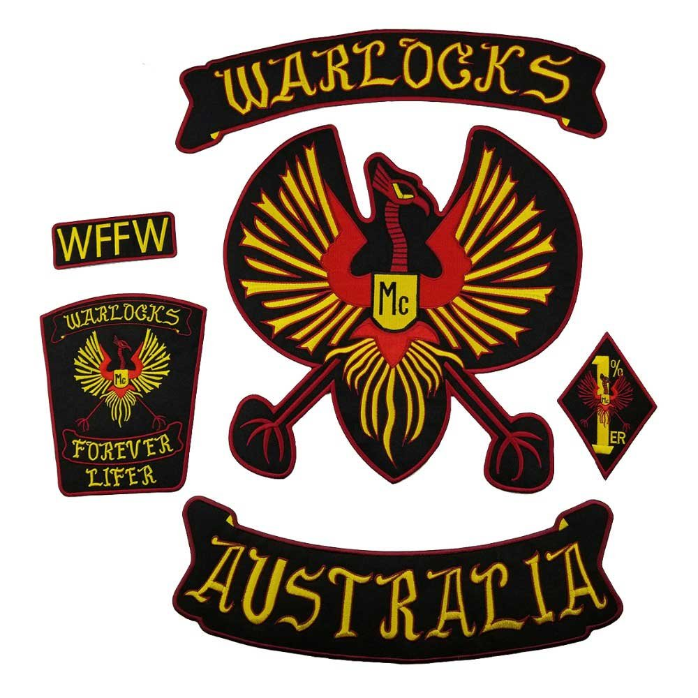 Graceful life WARLOCKS Full sets large biker motorcycle patches
