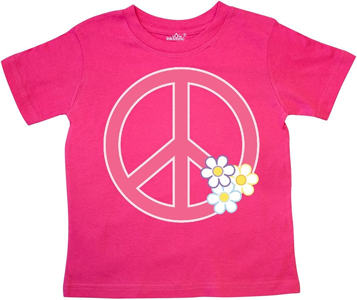 inktastic Peace Sign Cute Daisy Flowers Toddler T-Shirt