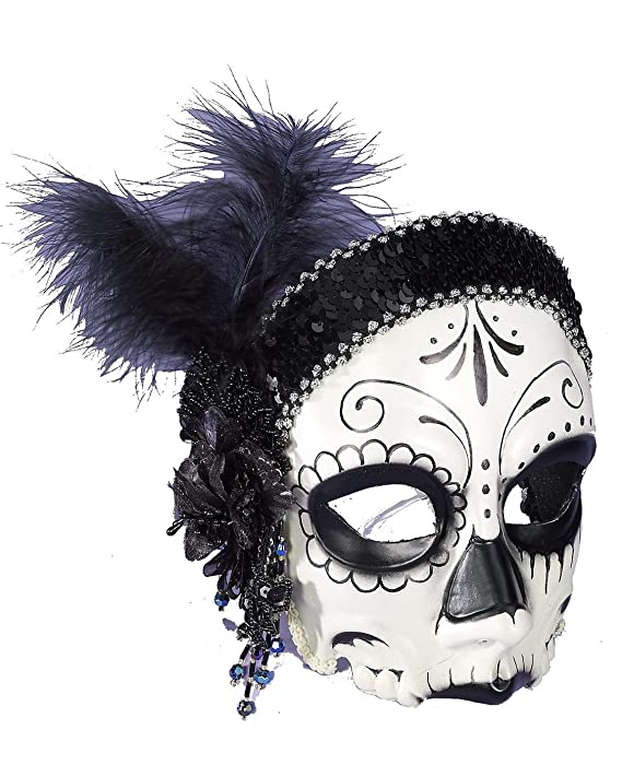 amazoncom day of the dead flapper half mask toys games
