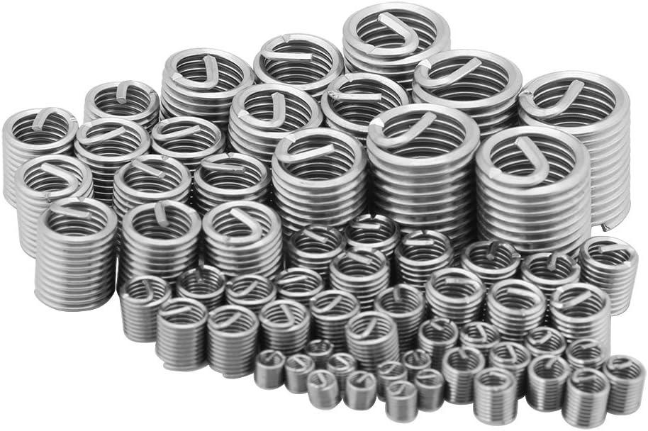 60Pcs Wire Thread Insert Assortment Metric M3 M4 M5 M6 M8 M10 M12 Yosoo Stainless Steel Wire Thread Inserts Thread Repair Kit