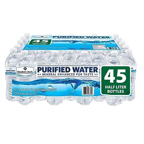 Members Mark Purified - Agua embotellada (paquete de 45) 45 ...