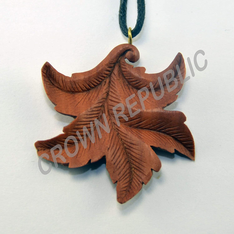 Hand Carved Leaf Pendant Leaf Pendant