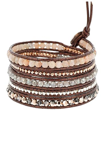 remise pour vente nouvelles variétés meilleur site Amazon.com: Chan Luu Women's Sunstone Mix Wrap Bracelet ...