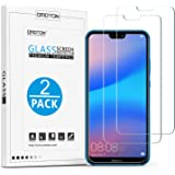 OMOTON [2 Pack] Compatible with Huawei P20 Lite Screen Protector- [9H Hardness] [Crystal Clear] [Bubble Free] Tempered Glass Screen Protector for Huawei P20 Lite