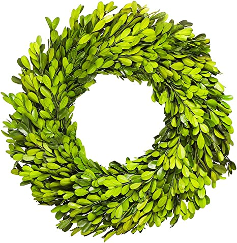 Topiary Heart Shape Boxwood Wreath Artificial Green Hanging Grass Garland Home