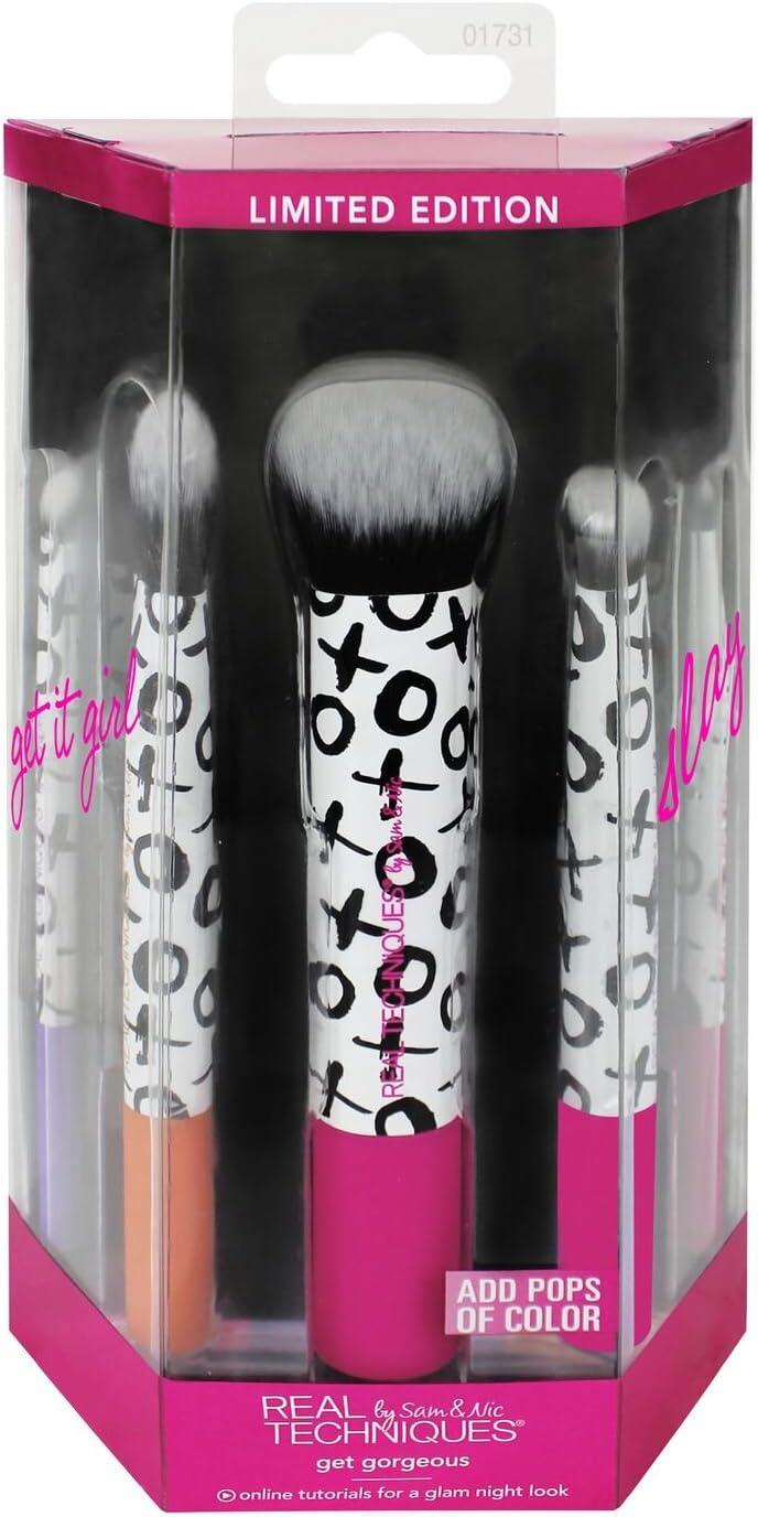 Real Techniques Get Gorgeous, Set de brochas para maquillaje - 1 pack: Amazon.es: Belleza