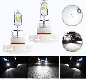HOCOLO 5202 PS24W H16(H16 Only Fit European Car!) LED Bulb White Fog Driving Light DRL Daytime Running Lights 3570 CSP-Chips High Power Brighting LED Fog Lamp Bulbs 6000K(5202/PS24W_Fog, White/6000K)