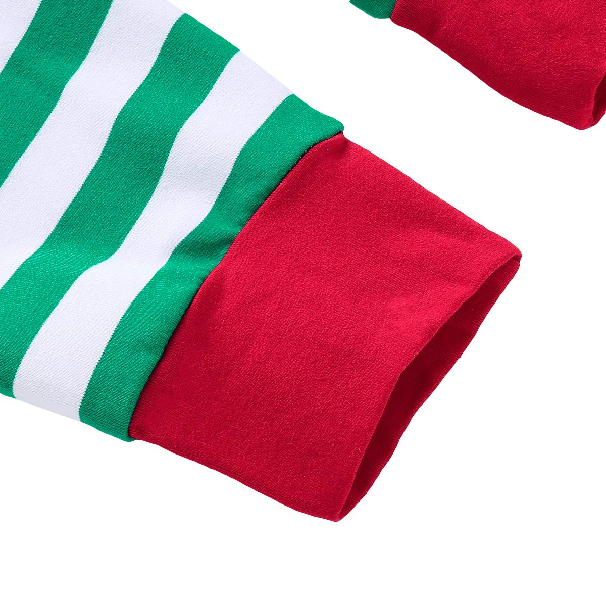 Mikrdoo Family Matching Christmas Pajamas Sleepwear Letter Print Striped PJs Set