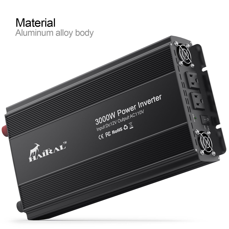 Haitral Power Inverter 3000w Modified Wave 3000 Watt 12 Volt Dc To Ac 110