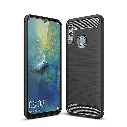 UCMDA Funda Huawei P Smart 2019 / Huawei Honor 10 Lite, Carcasa Huawei P Smart 2019 / Huawei Honor 10 Lite con Protector de Pantalla, Fundas Negro ...