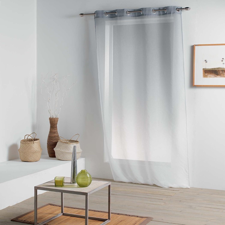 Douceur d' interno Vitalia Pannello a occhielli, poliestere, grigio, 260x 140cm L3C 1625552