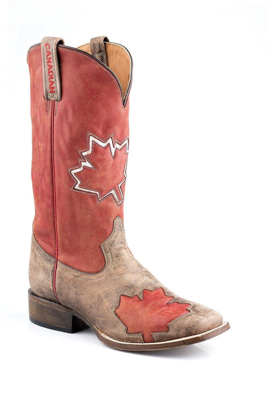 88f23a0e69c hot sale 2017 Roper Men s Canadian Flag Cowboy Boot Square Toe - 09-020-