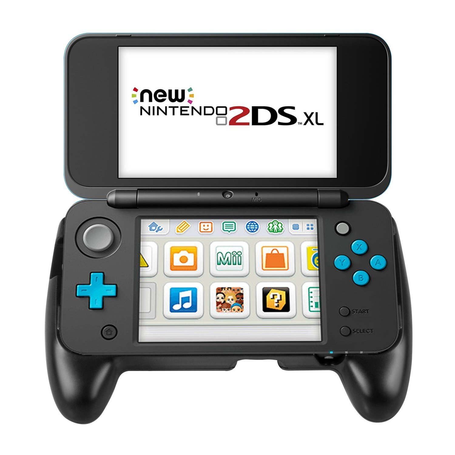 Keten Hand Grip Compatible with Nintendo New 2DS XL Console, Anti-Slip Controller Grip with Stand for NEW 2DS XL/LL 2017 (Black) by Keten