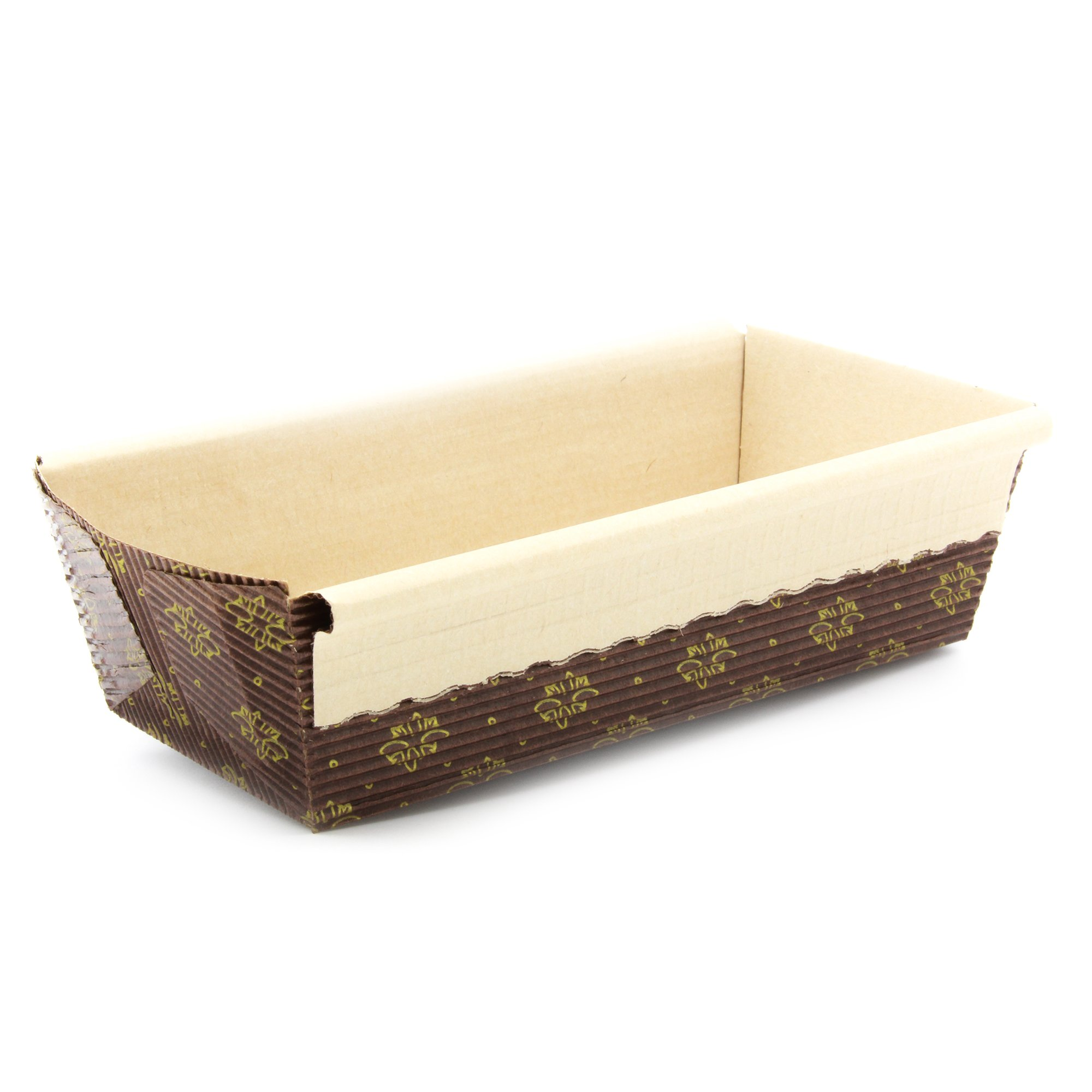 New Premium Paper Baking Loaf Pan, Nonstick, Disposable, All Natural & Eco Friendly, for Chocolate Cake, Banana Bread By Ecobake (100) by Ecobake (Image #1)