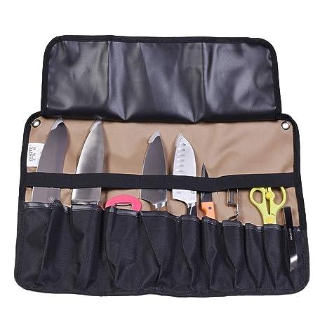 ThinkTop - Funda para cuchillos con 10 ranuras, bolsa ...