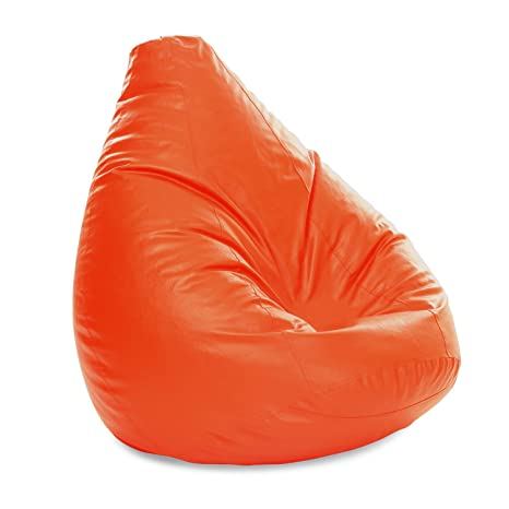 Surprising Amazon Com Style Homez Jumbo Sac Bean Bag Orange Color Onthecornerstone Fun Painted Chair Ideas Images Onthecornerstoneorg