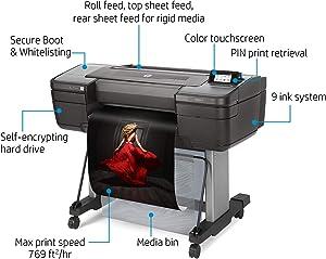 "HP DesignJet Z9+ Large Format Postscript Photo Printer - 24"", with Spectrophotometer (W3Z71A)"