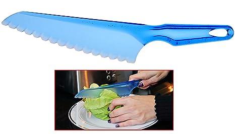 Amazon.com: HOME-X - Cuchillo serrado de plástico para ...