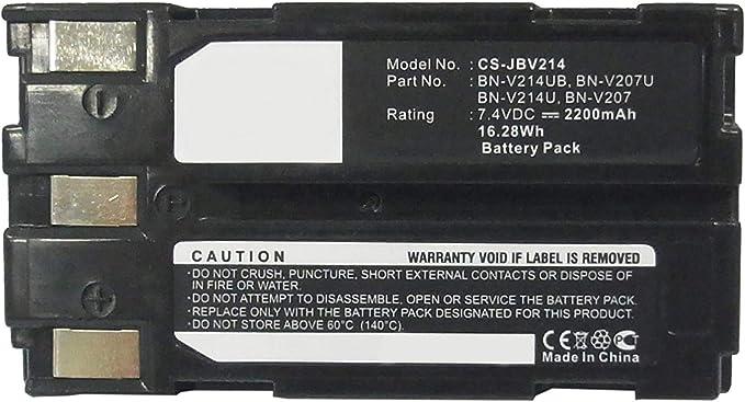 Amsahr Digital Replacement Battery For Jvc Bn V214 Kamera