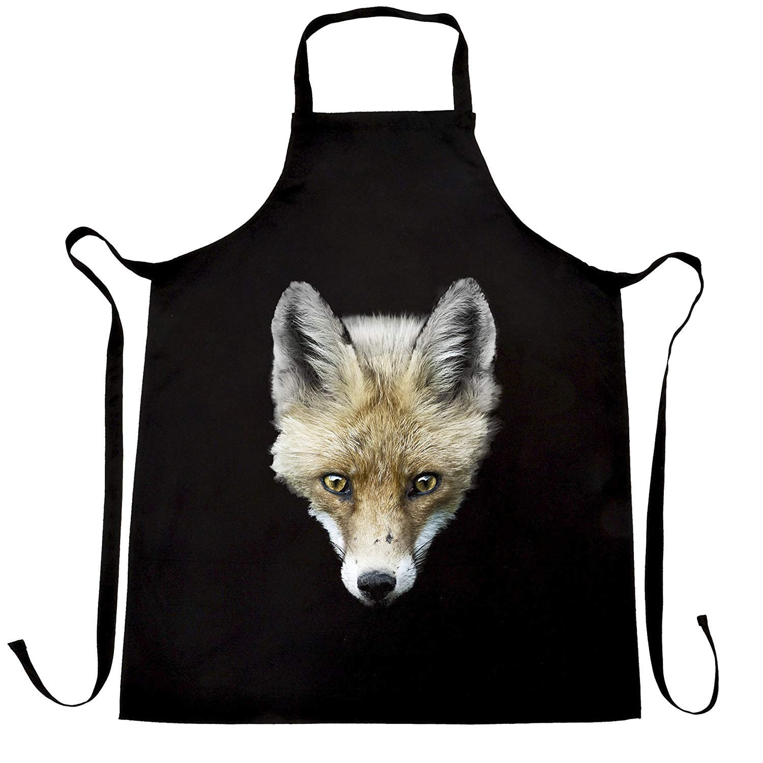 Fox Head Photograph Image Sly Sneaky Wildlife Logo Animal Wild Cute Powerful Inspirational Printed Design College Club Friend Family Apron Kitchen BBQ Cook Cool Birthday Gift Present