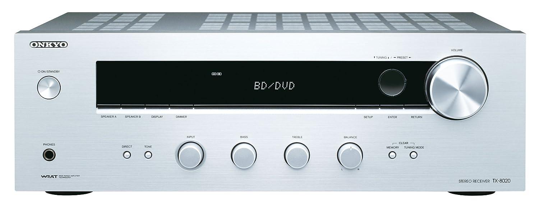 Onkyo TX-8020-S - Receptor esterero (90 W por canal, 3 ...