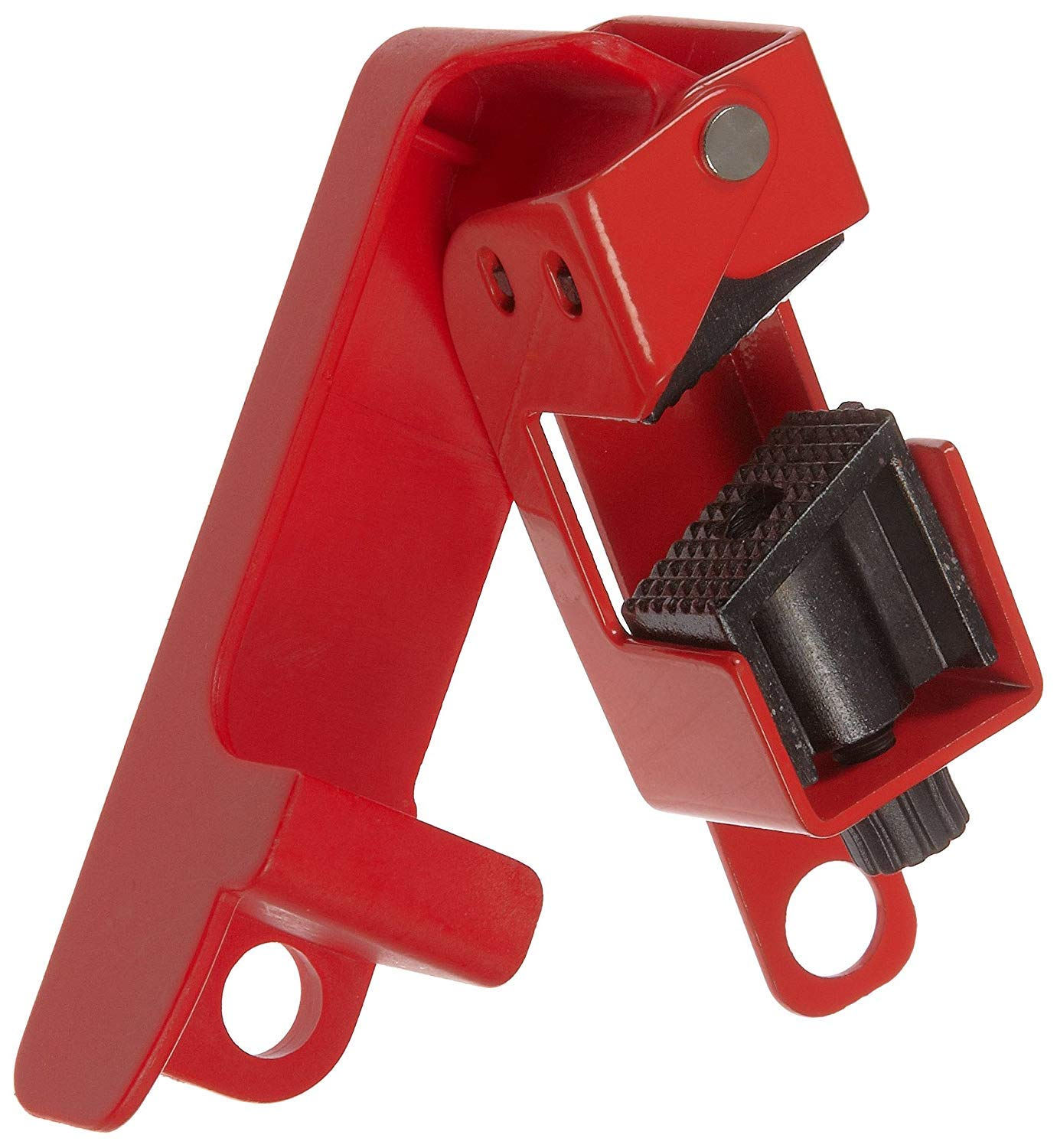 Master Lock 493B Grip Tight Lockout for 120 and 240V Circuit Breakers, 5'' x 2'' x 0'' 5, Red, 5'' x 2'' x 0'' 5 - Pack of 6